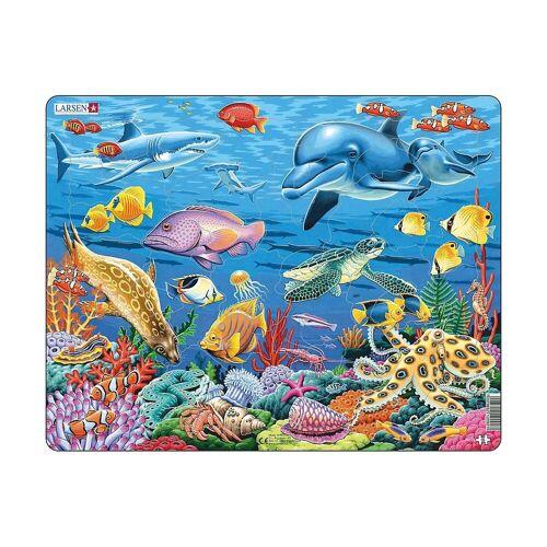 Larsen Puzzle »Rahmen-Puzzle, 35 Teile, 36x28 cm, Korallenriff«, Puzzleteile