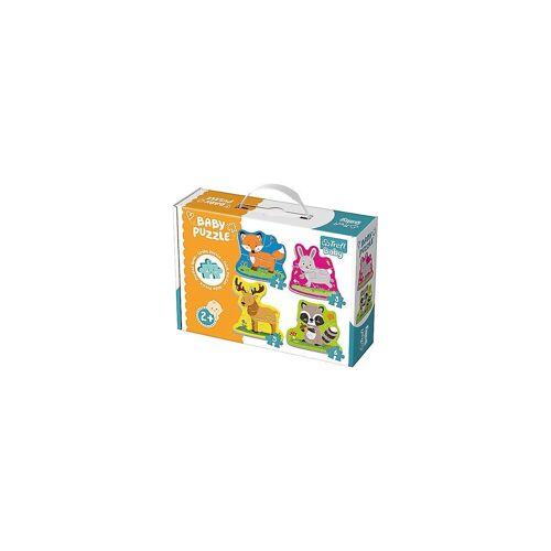 Trefl Puzzle »Baby Puzzle - Waldtiere (3/4/5/6 Teile)«, Puzzleteile