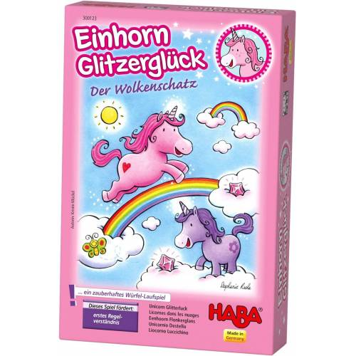 Haba Spiel, »Einhorn Glitzerglück - Der Wolkenschatz«, Made in Germany