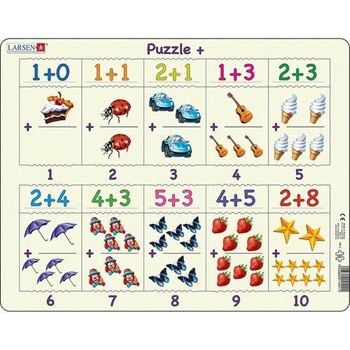 Larsen Puzzle »Rahmen-Puzzle, 20 Teile, 36x28 cm, Zählen & Erstes«, Puzzleteile