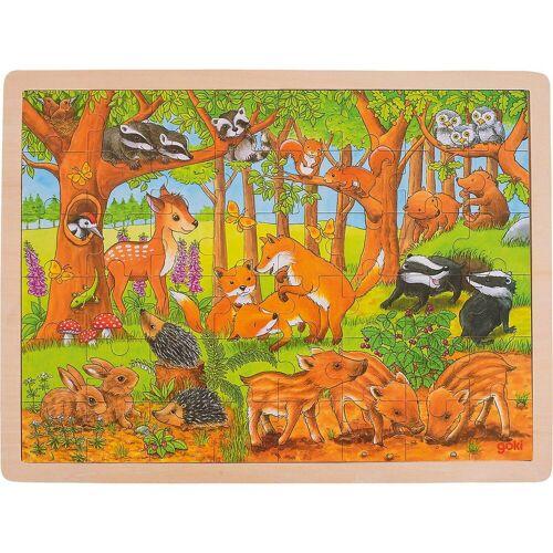 goki Puzzle »Einlegepuzzle Tierkinder im Wald«, Puzzleteile
