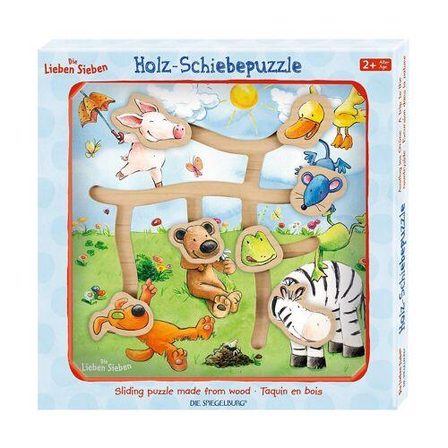 Spiegelburg Puzzle »Die Lieben Sieben: Holz-Schiebepuzzle Ausflug ins«, Puzzleteile