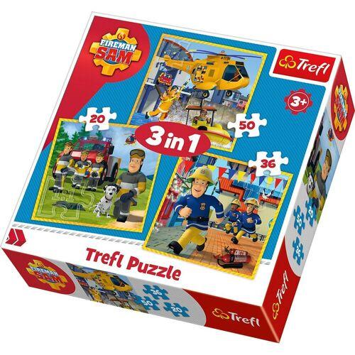 Trefl Puzzle »3in1 Puzzle 20/36/50 Teile - Feuerwehrmann Sam«, Puzzleteile