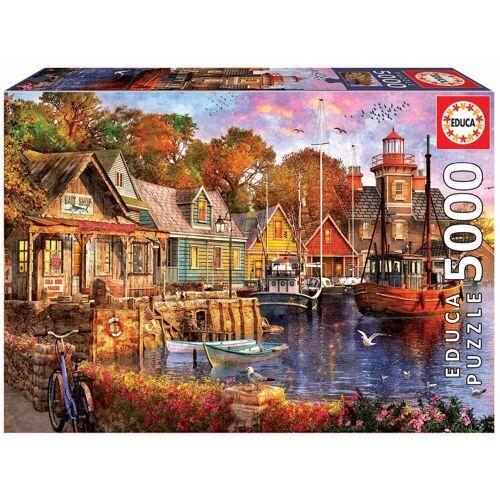 Educa Puzzle »SONNENUNTERGANG IM HAFEN«, 5000 Puzzleteile