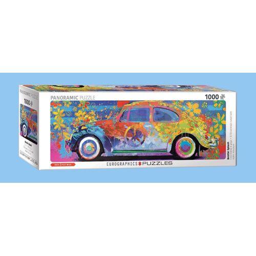 empireposter Puzzle »Volkswagen Käfer - Farbspiel - 1000 Teile Panorama Puzzle im Format 96x32 cm.«, 1000 Puzzleteile
