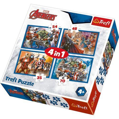 Trefl Puzzle »4in1 Puzzle 35/48/54/70 Teile - Marvel The«, Puzzleteile