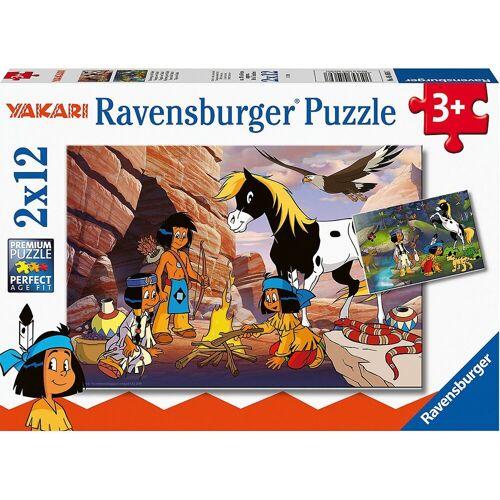Ravensburger Puzzle »Unterwegs mit Yakari, 2 x 12 Teile«, Puzzleteile