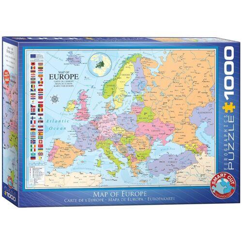 empireposter Puzzle »Landkarte von Europa - 1000 Teile Puzzle Format 68x48 cm.«, 1000 Puzzleteile