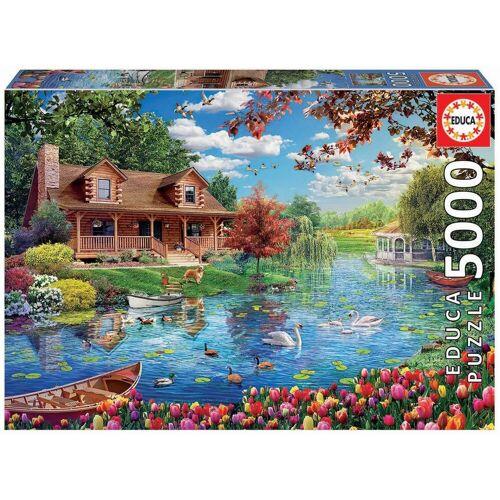 Educa Puzzle »HAUS AM SEE«, 5000 Puzzleteile