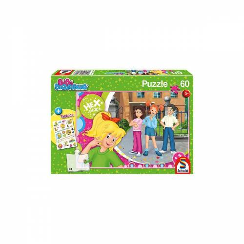 Schmidt Spiele Puzzle »Puzzle, 60 Teile, 36x24 cm, mit Tattoo-Sticker,«, Puzzleteile