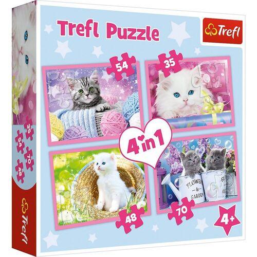 Trefl Puzzle »Puzzle 4 in 1 - Katzenspaß«, Puzzleteile