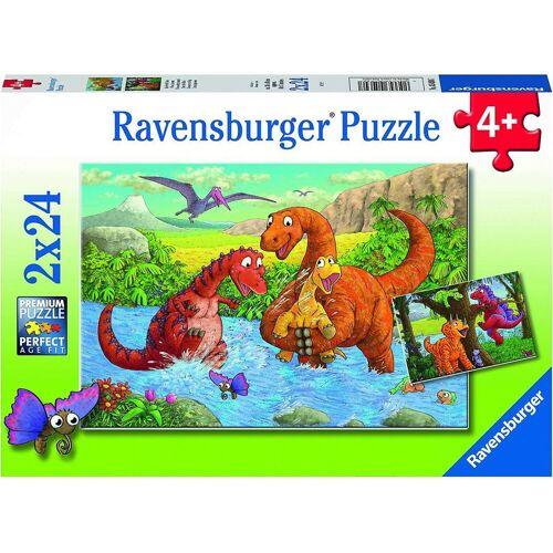Ravensburger Puzzle »Spielende Dinos, 4er Set Puzzle, 2 x 20 / 2 x 24«, Puzzleteile