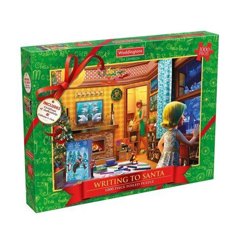 waddingtons Steckpuzzle »Christmas 2017 Writing To Santa Puzzle«, 1000 Puzzleteile