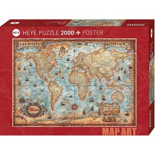 HEYE Puzzle »Puzzle The World, 2000 Teile«, Puzzleteile