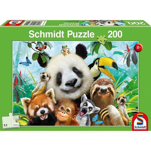 Schmidt Spiele Puzzle »Puzzle 200 Teile Einfach tierisch!«, Puzzleteile