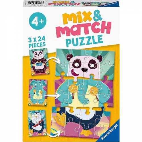 Ravensburger Puzzle »Puzzle 3x 24 Teile - Witzige Tiere«, Puzzleteile