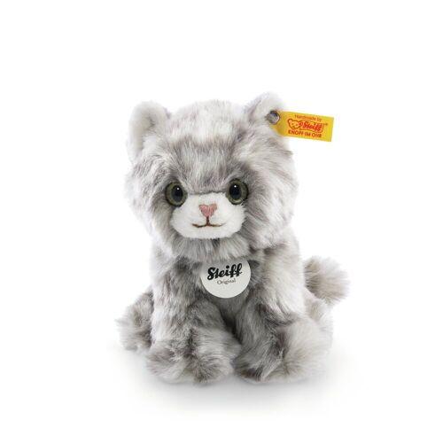 Steiff Kuscheltier »Katze Minka 17 cm grau-getigert 084010« (Stofftiere Katzen Plüschtiere, Stofftiere Katzen Plüschtiere)