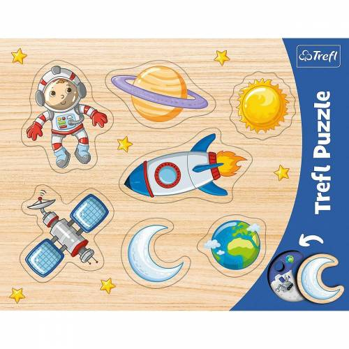 Trefl Puzzle »Konturenpuzzle - Weltall, 7 Teile«, Puzzleteile