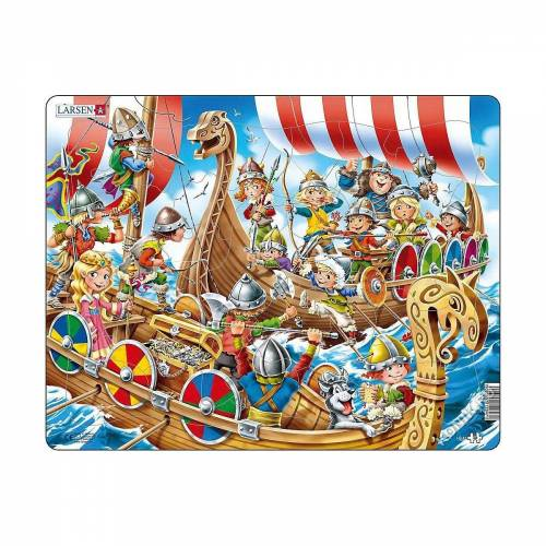 Larsen Puzzle »Rahmen-Puzzle, 30 Teile, 36x28 cm, Wikinger«, Puzzleteile