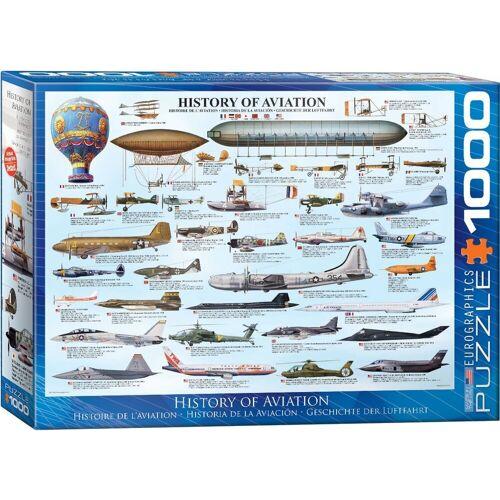 empireposter Puzzle »Die Geschichte der Luftfahrt - 1000 Teile Puzzle im Format 68x48 cm«, Puzzleteile