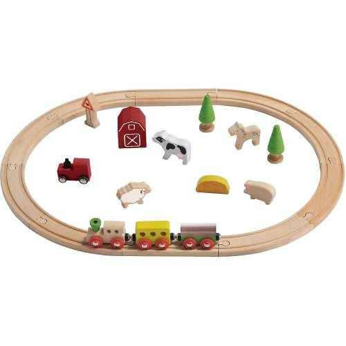 EverEarth® Spielzeugeisenbahn-Set »Holz-Eisenbahn-Set Bauernhof«