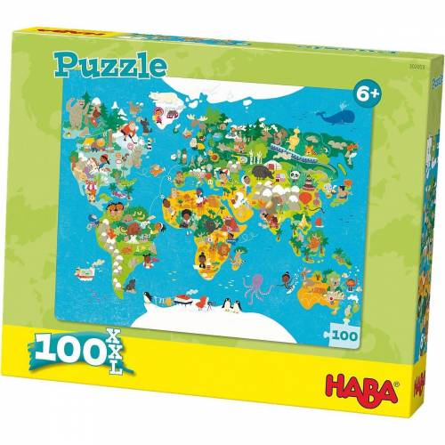 Haba Puzzle »Puzzle 100 XL Teile - Weltkarte«, Puzzleteile