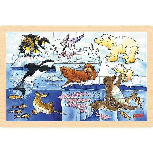 goki Puzzle »Einlegepuzzle Polartiere«, Puzzleteile