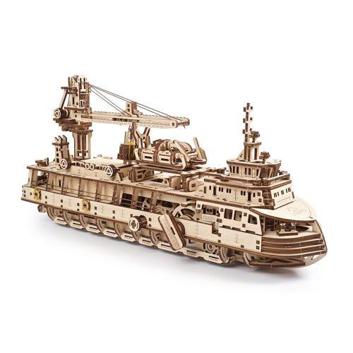 UGEARS 3D-Puzzle »Holz 3D-Puzzle Modellbausatz FORSCHUNGSSCHIFF«, 575 Puzzleteile
