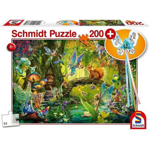 Schmidt Spiele Puzzle »Feen im Wald, 200 Teile, mit add on (Feenstab)«, Puzzleteile