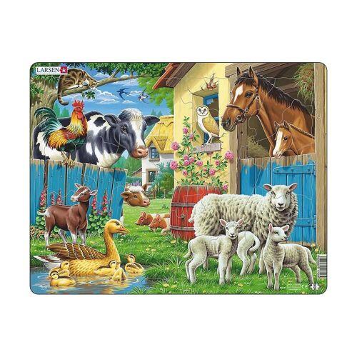 Larsen Puzzle »Rahmen-Puzzle, 23 Teile, 36x28 cm, Nutztiere«, Puzzleteile
