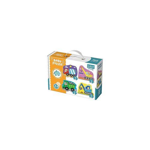 Trefl Puzzle »Baby Puzzle - Baufahrzeuge (3/4/5/6 Teile)«, Puzzleteile