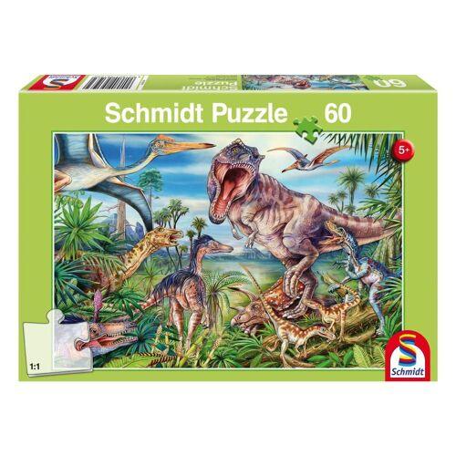 Schmidt Spiele Puzzle »Dinosaurier Bei den Dinosauriern«, 60 Puzzleteile