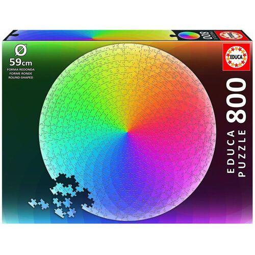 Educa Puzzle »Regenbogenfarben 800 Teile Rund - Puzzle«, 800 Puzzleteile