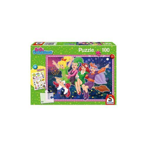 Schmidt Spiele Puzzle »Puzzle, 100 Teile, 36x24 cm, mit Tattoo-Sticker,«, Puzzleteile