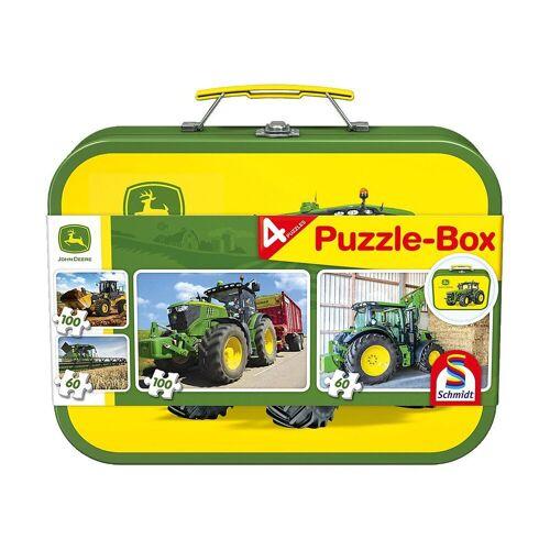 Schmidt Spiele Puzzle-Tasche »Puzzlekoffer 2 x 60 + 2 x 100 Teile John Deere«