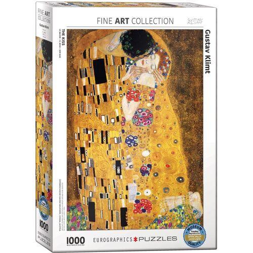 empireposter Puzzle »Der Kuss von Gustav Klimt - 1000 Teile Puzzle Format 68x48 cm«, 1000 Puzzleteile