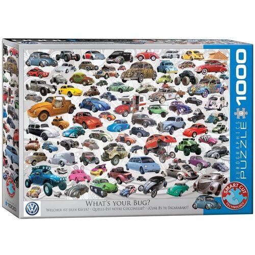 empireposter Puzzle »Bunte VW Käfer Welt - Welcher ist deiner? - 1000 Teile Puzzle Format 68x48 cm.«, 1000 Puzzleteile