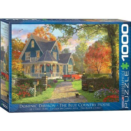 empireposter Puzzle »Dominic Davison - Das blaue Landhaus - 1000 Teile Puzzle im Format 68x48 cm«, 1000 Puzzleteile
