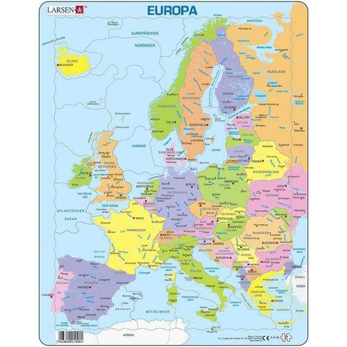 Larsen Puzzle »Rahmen-Puzzle, 37 Teile, 36x28 cm, Karte Europa«, Puzzleteile