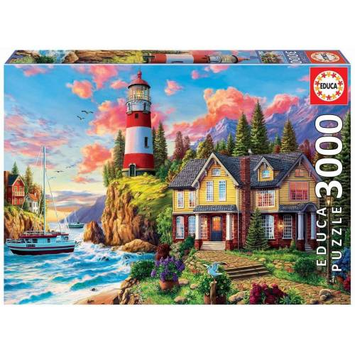 Educa Puzzle »LIGHTHOUSE NEAR THE OCEAN«, 3000 Puzzleteile