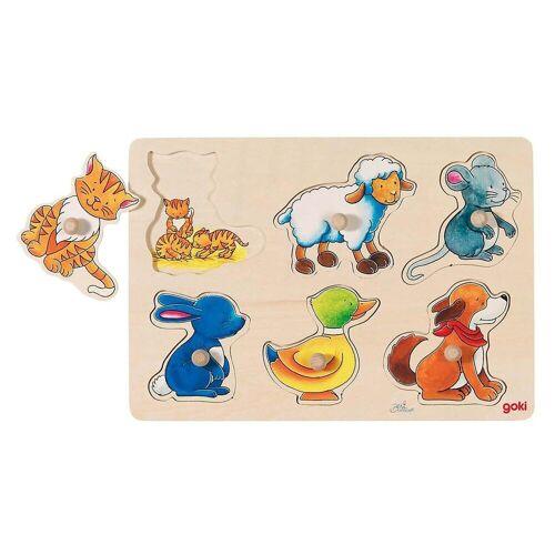 goki Steckpuzzle »Hintergrundbildpuzzle Mutter und Kind«, Puzzleteile