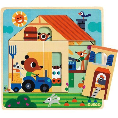 DJECO Puzzle »3-Schichten-Puzzle Chez Gaby, 9 Teile«, Puzzleteile