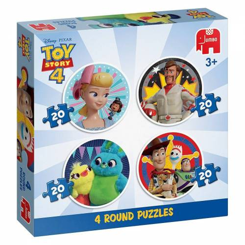 Jumbo Puzzle »4in1 Rundes Puzzle Toy Story 4«, Puzzleteile