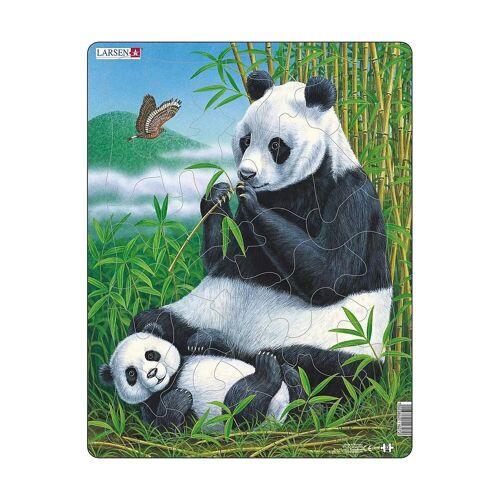Larsen Puzzle »Rahmen-Puzzle, 33 Teile, 36x28 cm, Panda«, Puzzleteile