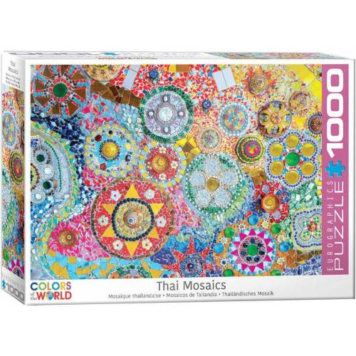 empireposter Puzzle »Thailändisches Keramik Mosaik - 1000 Teile Puzzle im Format 68x48 cm«, Puzzleteile