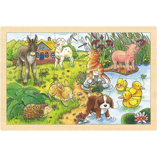 goki Puzzle »Holzpuzzle 24 Teile Tierkinder«, Puzzleteile