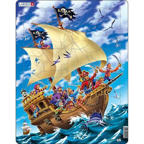 Larsen Puzzle »Rahmen-Puzzle, 30 Teile, 36x28 cm, Piraten«, Puzzleteile