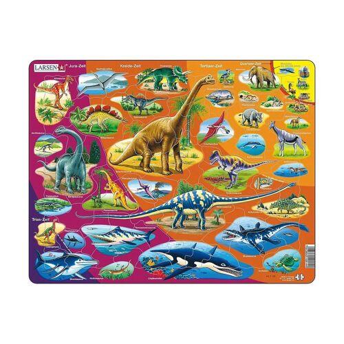 Larsen Puzzle »Rahmen-Puzzle, 85 Teile, 36x28 cm, Dinosaurier«, Puzzleteile