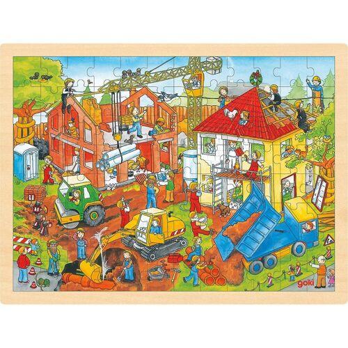 goki Puzzle »Einlegepuzzle Baustelle«, Puzzleteile
