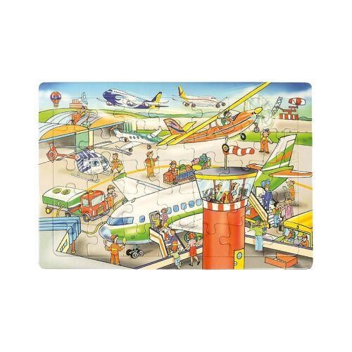 EDUPLAY Puzzle »Rahmenpuzzle Flughafen, 35 Teile«, Puzzleteile